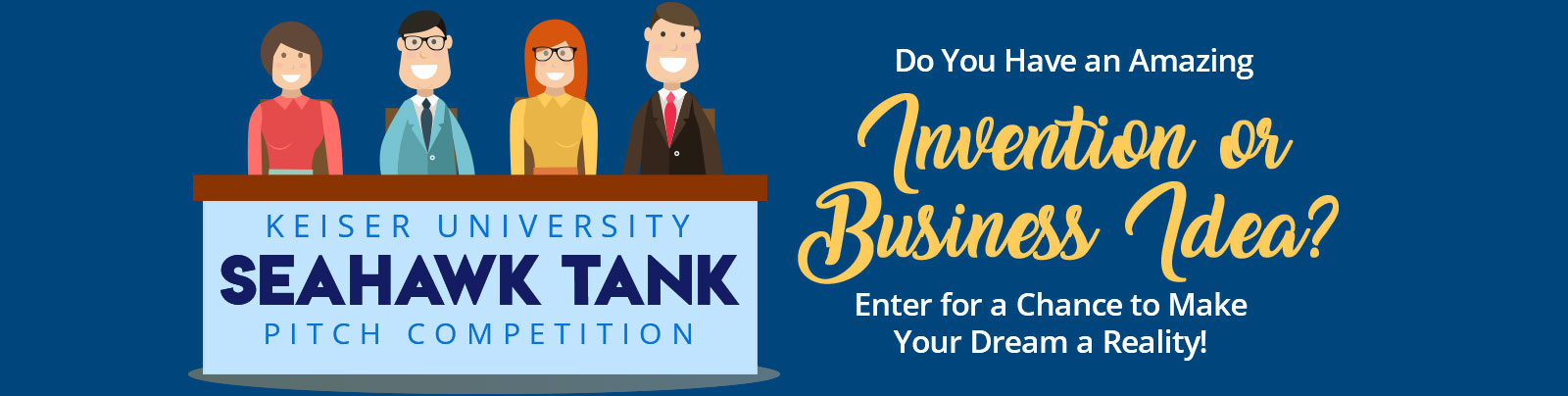 Enter the Seahawk Tank Pitch Competition!